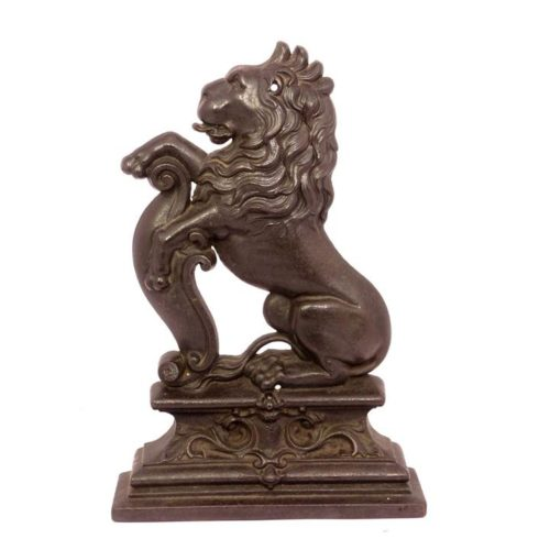 image of lion door stop