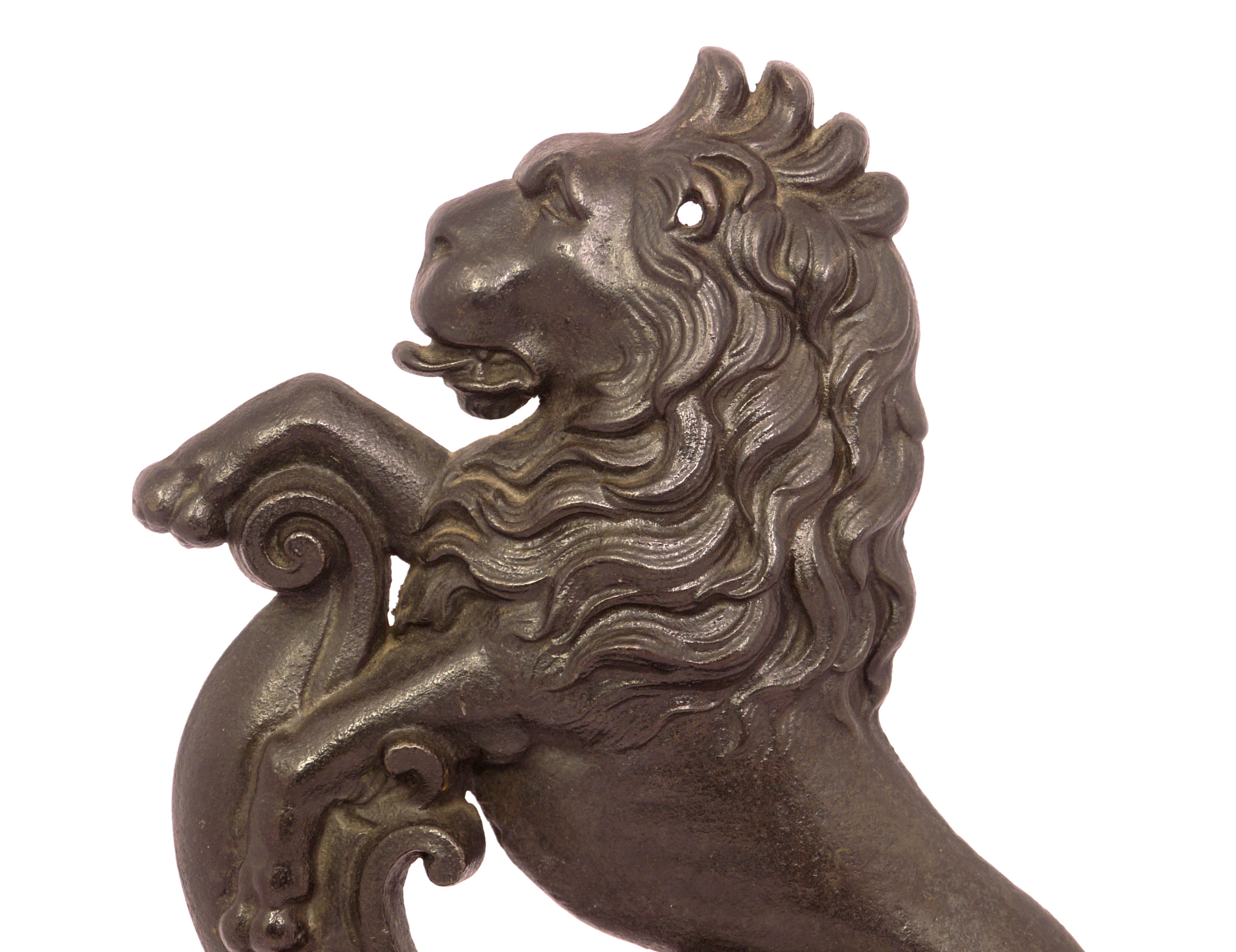 Antique British Lion Cast Iron Door Stop Annie S Attic