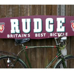 image of Rudge bicycle sign