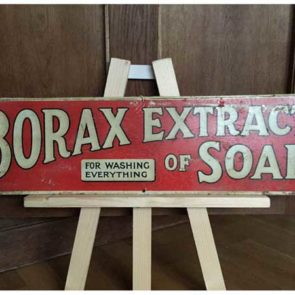 image of borax tin sign