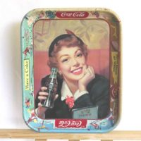 image of Coca Cola Menu Girl Tray