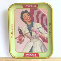 image of Vintage Coca Cola Umbrella Girl Tray